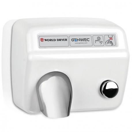 World Dryer Model A Push Button Hand Dryer white