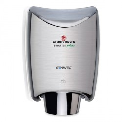 World Dryer SMARTdri plus Hand Dryer Aluminium brushed