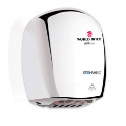 World Dryer Airforce Hand Dryer polished chrome