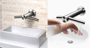 Airblade Tap drying hands